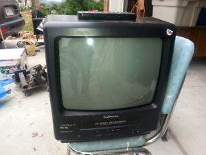 "Colour 1 4 "" TV with built in VCR"