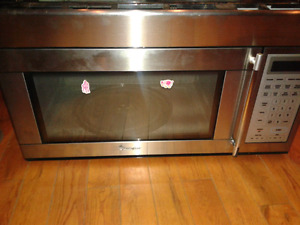 Magic Chef stainless over the range microwave