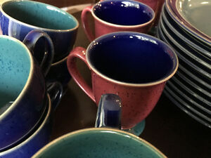 Denby Harlequin set of fifty pieces - Used but in amazing shape! Kitchener / Waterloo Kitchener Area image 5
