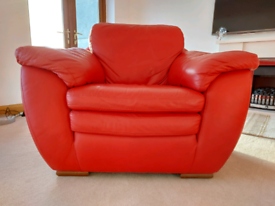 Leather Natuzzi accent chair