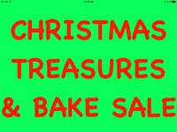 CHRISTMAS TREASURES & BAKE SALE - DS MOFFAT UNITED CHURCH