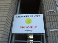 ** NOW OPEN ** BIG SMILE thrift shop donation center is NOW OPEN