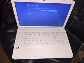 White toshiba laptop