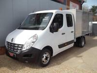 £ 47 A WEEK - 2013 RENAULT MASTER 7 SEAT CREW CAB DROPSIDE CAGED TRUCK T / BOX