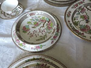 Copeland Spode Indian Tree Green and Pink Dinnerware Set Kingston Kingston Area image 8