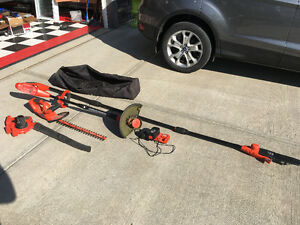 Hedge trimmer, Blower, Trimmer, Pole chain saw