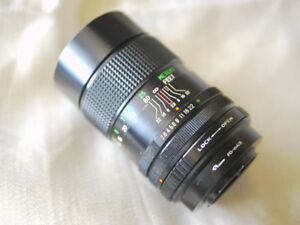 CANON - VIVITAR 135mm AUTO TELEPHOTO LENS WITH 4/3 ADAPTER