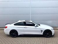 2015 15 BMW 420d xDrive M Sport + WHITE + Auto + M PERFORMANCE KIT +QUAD EXHAUST