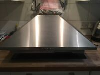 Gas hob together with extractor fan hood with cowling