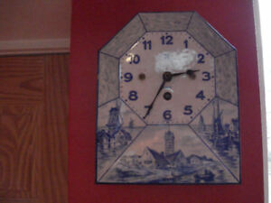 Antique Delft Wall Clock