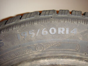 6  - 1995 Volkswagen Golf Steel rims with tires With 1extra tire Strathcona County Edmonton Area image 2