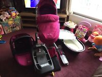 Silver cross travel system with extras