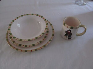 Christmas snowman dishes