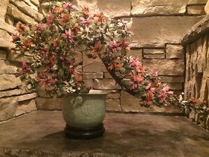 Très bel arrangement floral asiatique