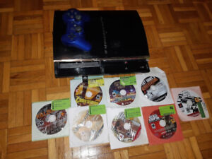 Modded PS3 80GB BACKWARDS COMPATIBLE + 1 CONTROLLER + 8 GAMES