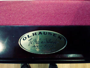 cherry wood olhausen pool table
