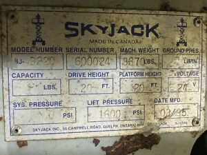 "3220 Skyjack Scissor Lift   32""x20' Lift Windsor Region Ontario image 4"