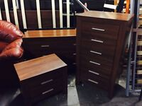 Heavy walnut 3 pice bedroom set