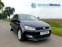 Volkswagen Polo 1.2 Match 5dr Black - LOW MILEAGE - IDEAL 1ST CAR - F.S.H