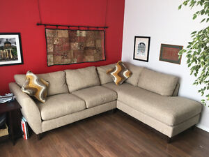 Lazboy Tribeca Sectional Chaise and Sofa