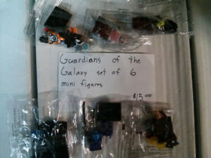 Guardians of the Galaxy minifigures (works with Lego)lot of 6