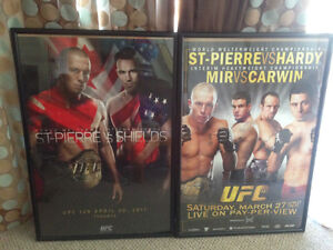 UFC 129 and 111 signed n framed posters