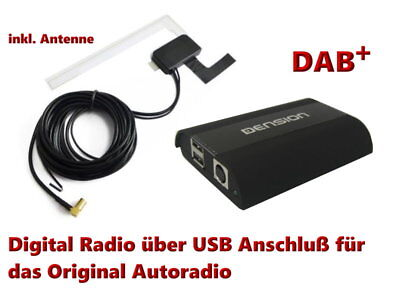 Dension DAB + Empfänger Tuner Universal Digital Radio + Fenster Antenne Set USB