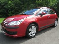06/56 CITROEN C4 1.6 SX 5DR HATCH IN MET RED WITH ONLY 60,000 MILES