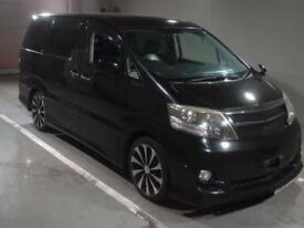 TOYOTA ALPHARD 2.4 AS JAN 2007 5 SEATS 81000 MILES ELEVATING ROOF/REAR CAMPER