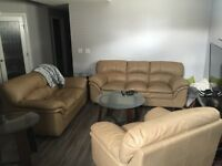 Moving must sell Couch loveseat and chair!!