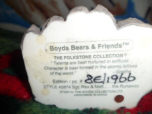 Boyds Bears and Friends Numbered Figures.  $30 Each Both for $50 Prince George British Columbia image 3