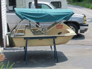 Paddleboat and flatbed trailer for it for sale