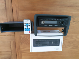 After market stereo and carrier for 2011 fiat panda.