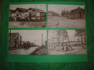 """4 Old WW military Postcards  """"Camp Witley"""""""