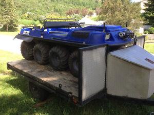 8x8 Argo with trailer
