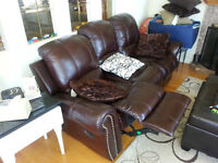 High Quality 3-piece Reclining Leather Set