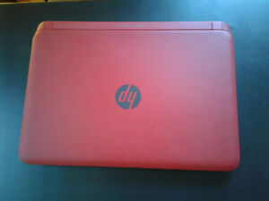 Red HP Pavillion Laptop Computer