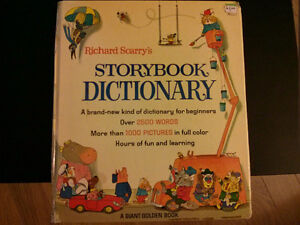 1974 Richard Scarry's Storybook Dictionary Hardcover  $5