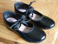 Size 12 (girls) Capezio tap shoes