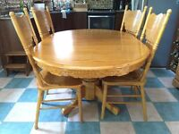 5 piece dining room table & chairs