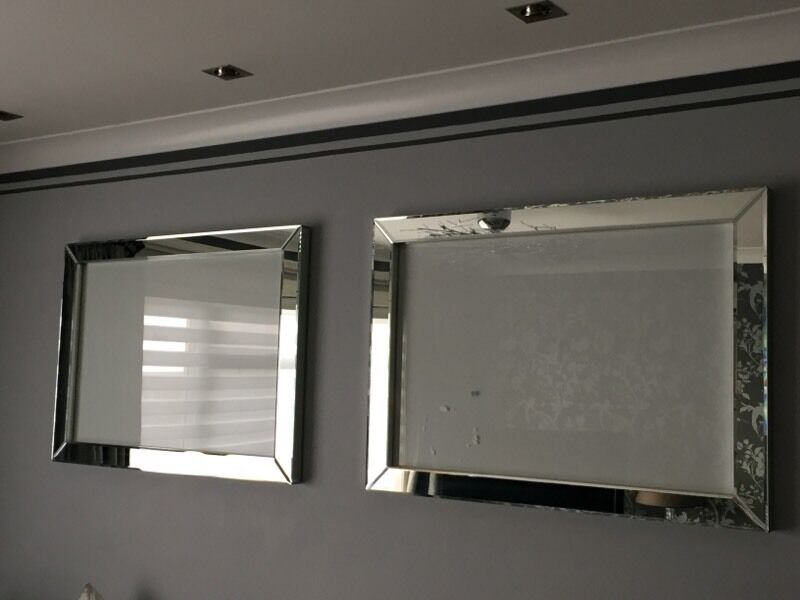 LAURA ASHLEY GATSBY MIRRORED LARGE PICTURE FRAMES X 2 COST £450 ...