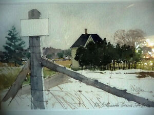 """Early Spring """"Near Eckhardts Corners, Stouffville, Watercolor Stratford Kitchener Area image 2"""