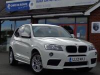 2012 12 BMW X3 2.0 XDRIVE 20D 180 M SPORT AUTO *FULL LEATHER* DIESEL