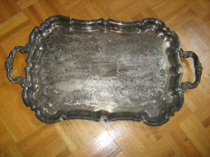 Silver Plated Copper Viking Plate Serving Tray