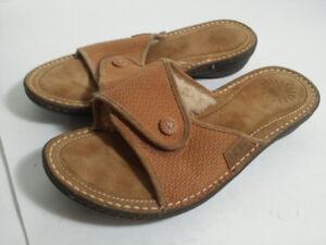 *UGG   - sandale en cuir -leather sandal - femme taille 9 /40*