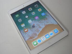 "ipad mini 7.9"" tablet white silver 32gb minor chip on edge"
