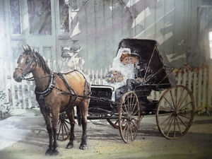 Victorian Wedding Picture, w/ Horse and Buggy by Walter Campbell Stratford Kitchener Area image 2