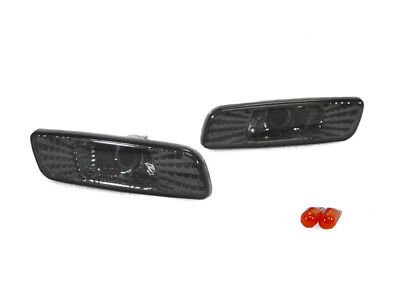 DEPO Chrome Crystal Smoke Front Bumper Side Marker Lights for 00-05 Lexus IS300