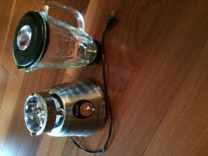Osterizer stainless steel and glass pitcher blender