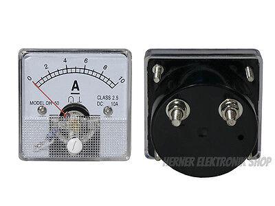 0 - 10 A Dc Einbau Messinstrument Analog Amperemeter Mit Shunt - Class 25